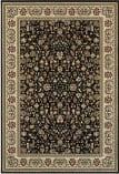 Oriental Weavers Kashan 108b Black - Ivory Area Rug