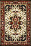 Oriental Weavers Kashan 96w Red - Ivory Area Rug