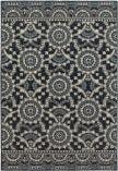 Oriental Weavers Linden 7842A Navy - Grey Area Rug
