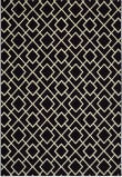 Oriental Weavers Luna 8123B Black - Ivory Area Rug