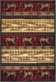 Oriental Weavers Woodlands 9594B Red - Multi Area Rug