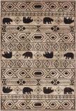 Oriental Weavers Woodlands 9651A Ivory - Black Area Rug