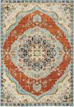 Oriental Weavers Xanadu 1332Q Orange - Blue Area Rug