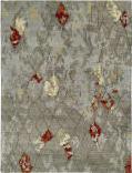 Rugstudio Sample Sale Br-805 Greige- Slate Abstract Area Rug