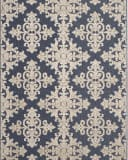 Safavieh Cottage Cot906a Navy - Creme Area Rug