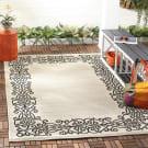 Safavieh Courtyard CY1588-3901 Sand / Black Area Rug