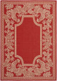 Safavieh Courtyard CY3305-3707 Red / Natural Area Rug