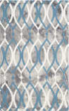 Safavieh Dip Dyed Ddy534j Grey - Ivory Blue Area Rug