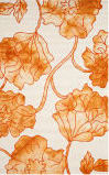 Safavieh Dip Dye Ddy683a Ivory - Orange Area Rug