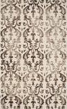 Safavieh Dip Dye Ddy689b Ivory - Chocolate Area Rug