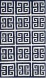 Safavieh Dhurries Dhu626d Navy / Ivory Area Rug
