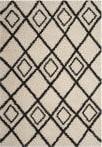 Safavieh Moroccan Fringe Shag Mfg244b Cream - Charcoal Area Rug