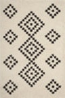 Safavieh Moroccan Fringe Shag Mfg246b Cream - Charcoal Area Rug