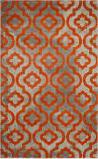 Safavieh Porcello Prl7734 Light Grey - Orange Area Rug