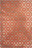 Safavieh Porcello Prl7734f Light Grey - Orange Area Rug