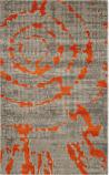 Safavieh Porcello Prl7735 Light Grey - Orange Area Rug