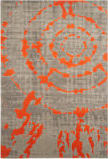Safavieh Porcello Prl7735f Light Grey - Orange Area Rug