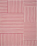 Ralph Lauren Canyon Stripe Patch RLR2867H Rouge Area Rug