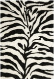 Safavieh Florida Shag Sg452-1290 Ivory / Black Area Rug