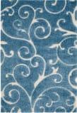Safavieh Florida Shag Sg455 Dark Blue - Cream Area Rug