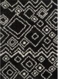 Safavieh Belize Shag Sgb488c Charcoal / Ivory Area Rug