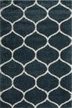 Safavieh Hudson Shag Sgh280l Slate Blue - Ivory Area Rug