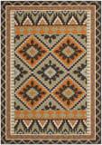 Safavieh Veranda Ver096-742 Green / Terracotta Area Rug