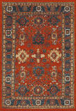Safavieh Vintage Hamadan VTH214C Orange - Blue Area Rug