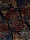Samad Art Tec Spiral Black Area Rug