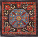 Persian Carpet Classic Revival Kaitag AP-24 Charcoal Area Rug