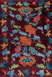 Tibet Rug Company 60 Knot Premium Tibetan Floral Plum Area Rug