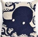 Trans-Ocean Frontporch Pillow Octopus 1432/33 Navy Area Rug