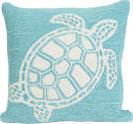 Trans-Ocean Frontporch Pillow Turtle 1634/04 Aqua