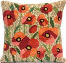 Trans-Ocean Frontporch Pillow Poppies 4244/12 Neutral