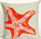 Trans-Ocean Visions Ii Pillow Starfish 4141/16 Seafoam Area Rug