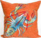 Trans-Ocean Visions Ii Pillow Lobster 4153/17 Orange Area Rug