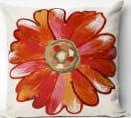 Trans-Ocean Visions Iii Pillow Daisy 3149/17 Orange Area Rug