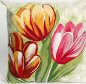 Trans-Ocean Visions Iii Pillow Tulips 3208/24 Warm Area Rug