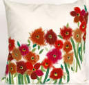 Trans-Ocean Visions Iii Pillow Poppies 3209/24 Red Area Rug