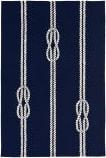 Trans-Ocean Capri Ropes 1636/33 Navy Area Rug