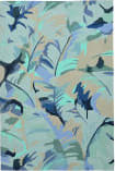 Trans-Ocean Capri Palm Leaf 1668/03 Blue Area Rug