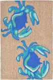 Trans-Ocean Frontporch Crabs 1404/03 Blue Area Rug