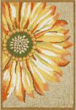 Trans-Ocean Frontporch Sunflower 1417/09 Yellow Area Rug