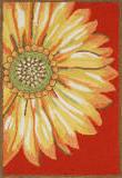 Trans-Ocean Frontporch Sunflower 1417/24 Red Area Rug