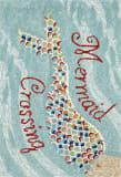 Trans-Ocean Frontporch Mermaid Crossing 1448/03 Water Area Rug