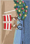 Trans-Ocean Frontporch Coastal Christmas 1854/44 Multi Area Rug