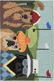 Trans-Ocean Frontporch Putts And Mutts 2418/44 Multi Area Rug