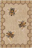 Trans-Ocean Frontporch Honeycomb Bee 2432/12 Natural Area Rug