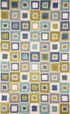 Trans-Ocean Spello Big Squares 2055/04 Ocean Area Rug