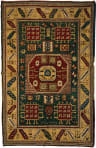 Tufenkian Knotted Green/Yellow 5' x 7' Rug